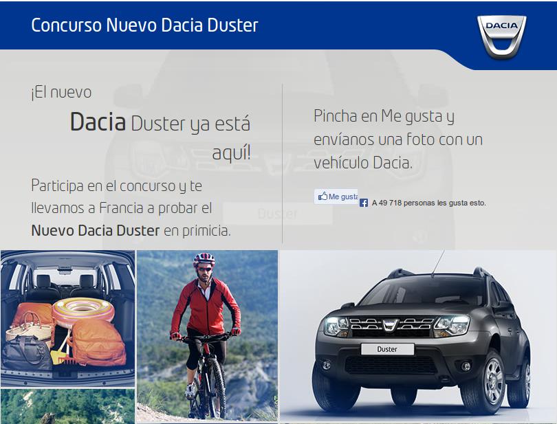 Concurso Nuevo Dacia Duster