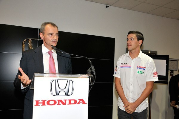 Joan Barreda inaugura el nuevo concesionario de Honda en Castellón