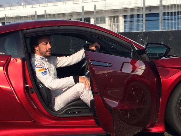 Fernando Alonso conduce el Honda NSX en Estoril