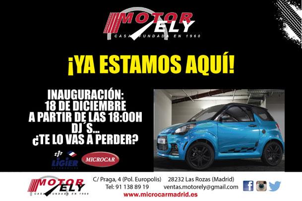 Ampliamos la Red de Ligier-Microcar: Motor Ely en Las Rozas
