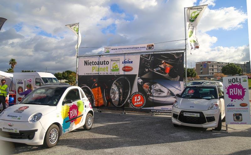 Microcar Due, coche oficial de la Holi Run de Málaga