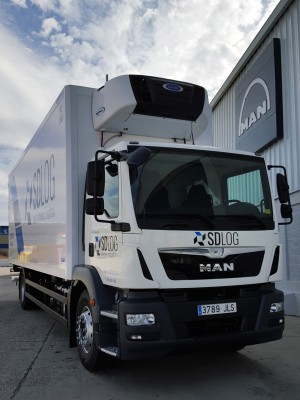 SDLog recibe en Segovia el primer MAN Truck to go matriculado en España
