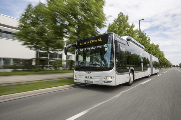 "El Lion's City GL CNG de MAN es el ""Bus of the year 2015"""