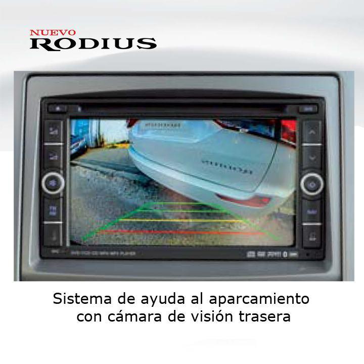 Sistema de ayuda al aparcamiento con cámara de visión trasera